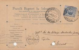 Villanova Di Bagnocavallo. 1922. Annulo Guller VILLANOVA DI BAGNOCAVALLO (RAVENNA)  Su Cartolina Postale PUBBLICITARIA - Storia Postale