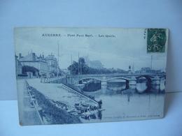 AUXERRE 89 YONNE PONT PAUL BERT LES QUAIS CPA 1910 GALERIES AUXERRE E . HERMANN ET RABET PROPRIÉTAIRE - Auxerre