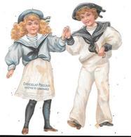 Chromo Découpi CHOCOLAT POULAIN : Couple Enfants Dansant - Enfants