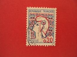 """1960  Oblitéré   N° 1282 I   """" Marianne De Cocteau 0.20""""    Net   0.30   Photo   2    """"   Barcelonettette  """" - 1961 Marianne De Cocteau"""