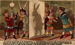 CHROMO CHOCOLAT LOUIT LES JEUX D'ENFANTS JEU D'OMBRE - Louit