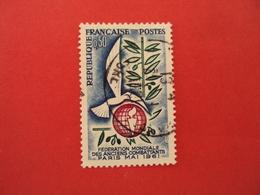 """1960  Oblitéré   N° 1292   """"  Anciens Combattants""""    Net   0.20   Photo   2 - 1961 Marianne De Cocteau"""