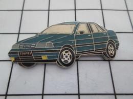 916b Pin's Pins / Beau Et Rare / THEME : AUTOMOBILES / FIAT TEMPRA BLEU PETROLE - Fiat