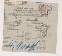 AUSTRIA .1898 CZECH REPUBLIC  Prag Parcel Card - 1850-1918 Impero