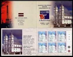 Latvia Lettland Latvija Lettonia 1999. Aglona Basilica. Architecture. Booklet. Mi.# 505.   MNH - Lettonie