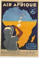 Pret à Poster Affiche Publicitaire Air Afrique - Entiers Postaux