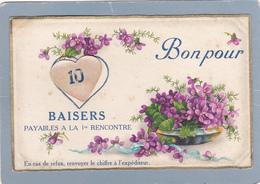 Bon Pour 10 Baisers - Fantaisie - Amag 2888 - Coeur Decoupi Mobile . (2 Scans) - Autres