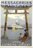 Pret à Poster Affiche Publicitaire Messageries Maritimes Japon-Extrême Orient - Entiers Postaux