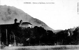 FAVERGES ,CHATEAU ET SEYTHENEX ,VUE DE LA GARE    REF 65162 - Faverges