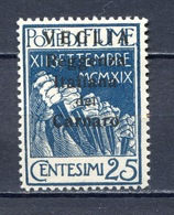 FIUME 1923 -VEGLIA N° 8 MNH** - Fiume