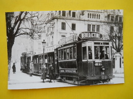 Photo Bazin ;gare ,trains ,tramways ,TEB ,Besançon,tramway Et Son équipage - Treni