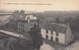 CPA - Larmor - Le Chemin De La Plage - Au Fond Le Village De Locqueltas - Larmor-Plage