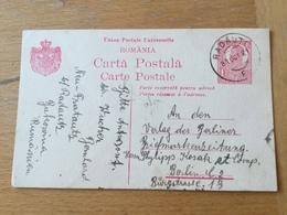 KS1 Rumänien Ganzsache Stationery Entier Postal P 67a Von Radauti Nach Berlin - Entiers Postaux