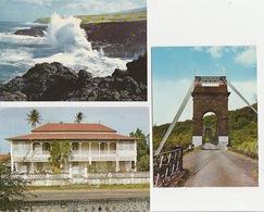 20 / 4 / 159. -  LA. RÉUNION  - LOT  DE 6 Dos  -  Divisé        Circulé  -oui - Non        Année -        Editeur  - CPM - Postcards