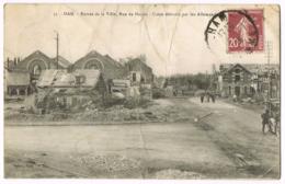 Ham - Entrée De La Ville - Rue De Noyon - Usine Détruite Par Les Allemands - 35 - Vasset - Animée - Circulé - ROUGE - Ham