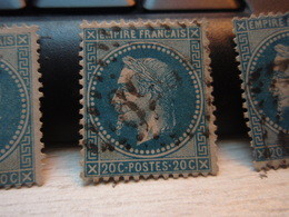 Timbre Empire Français 20 C. Napoléon III  Lauré. 29 B Oblitéré. 1959 - 1863-1870 Napoleon III With Laurels
