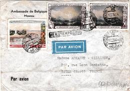 """Brief Van De """"Belgische Ambassade"""" In Moskou => Lille ( Rijsel ) Met 2 X 1508 En 1 X 1655 - Covers & Documents"""