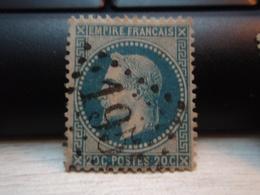 Timbre Empire Français 20 C. Napoléon III  Lauré. 29 A Oblitéré. 1959, Pli Bas Gauche Marqué - 1863-1870 Napoleon III With Laurels