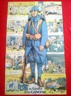 10 CPA.Puzzle Complet.La Gaité à La Caserne.Illustrateur Jarry.Etat Neuf.TTB.Voir Scans. - War 1914-18