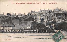 ¤¤  -  GRANVILLE   -  Passage Du Tramway Sur La Place Pléville   -  Train , Chemin De Fer    -  ¤¤ - Granville