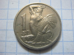 Czechoslovakia , 1 Koruna 1946 - Tschechoslowakei