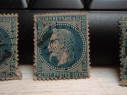 Timbre Empire Français 20 C. Napoléon III  Lauré. 29 A Oblitéré. 1959 - 1863-1870 Napoleon III With Laurels