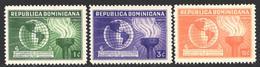 1938   Yvert Nº 306 / 308  MH - Repubblica Domenicana