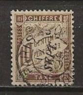 FRANCE:, Obl., TAXE N° YT 29a, Papier GC, TB - 1859-1955 Usati