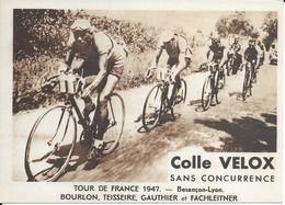 Tour De France 1947   Besançon-lyon   Bourlon Teissiere  Gauthier Et Fachleitner - Radsport