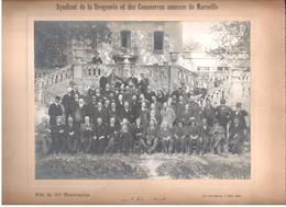 Syndicat De La Droguerie Et Du Commerce Annexes De Marseille 20e Anniversaire-photo Sur Carton 22,5cm X 16,5cm - Autres