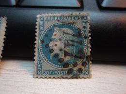 Timbre Empire Français 20 C. Napoléon III  Lauré. 29 B Oblitéré. 1747 - 1863-1870 Napoleon III With Laurels