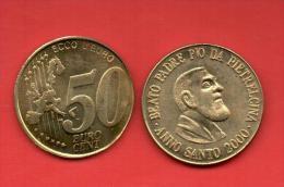 EUROS PRUEBA -  VATICANO -  50 Cents. Beato Padre Pio  - PRUEBA - Privéproeven