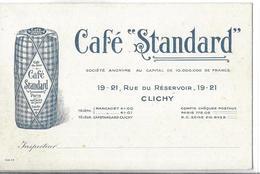 PUBLICITE     CAFE STANDARD     CARTE REPRESENTANT   19 RUE RESERVOIR CLICHY  SEPT 92 - Publicité