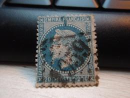 Timbre Empire Français 20 C. Napoléon III  Lauré. 29 B Oblitéré. 1959 Timbre Avec Pli. - 1863-1870 Napoleon III With Laurels