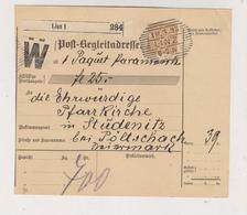 AUSTRIA .1898 LINZ Parcel Card - 1850-1918 Impero