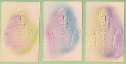 4 CPA, Le Colonel MARCHAND, état Parfait. Capitaine à Fachoda. Cartes Gaufrées. Thoissey (01). - Characters