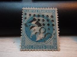 Timbre Empire Français 20 C. Napoléon III  Lauré. 29 B Oblitéré. 3827 - 1863-1870 Napoleon III With Laurels