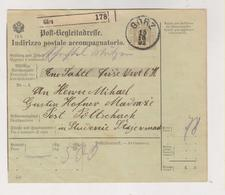 AUSTRIA .1902 ITALY GORZ GORIZIA  Parcel Card - 1850-1918 Impero