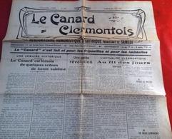 Le Canard Clermontois Humoristique Et Satirique 25 Juin 1927 Article Boxeur Emile Pladner Actualité Clermontoise - Altri