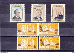 GIBRALTAR 1980 EUROPA NOËL Yvert 407-409  +  416-417 NEUF** MNH - Gibilterra