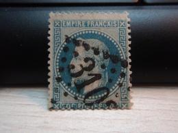 Timbre Empire Français 20 C. Napoléon III  Lauré. 29 A Oblitéré. 3103 - 1863-1870 Napoleon III With Laurels