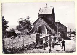 X71062 UCHON Saone-Loire EGLISE Groupe Enfants 1959 - COMBIER 16 Véritable Photographie - France