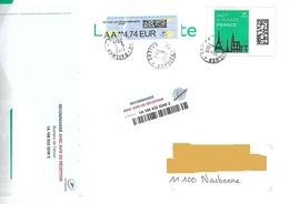 Cachet Manuel Pailhes Ariège Sur Prétimbré 100 Gr Vignette Lisa LR R1 AR - Marcofilie (Brieven)