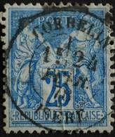 -Sage N°78  Type Ll.(CAD) O.CORBELIN ( 37 ) 24 FEVR 1878. - 1876-1898 Sage (Type II)