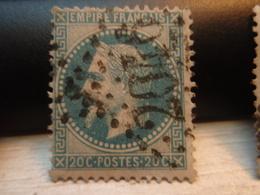 Timbre Empire Français 20 C. Napoléon III  Lauré. 29 B Oblitéré. 2046 - 1863-1870 Napoleon III With Laurels