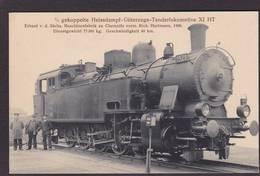 CPA Locomotive Chemin De Fer Train Non Circulé éditeur LEONHARDT Allemagne - Treinen