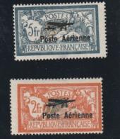 France N° 1 Et 2 Poste Aérienne Le Premier Choix Avec Une Légere Petite Tache Et 2 Avec Un Clair - Airmail