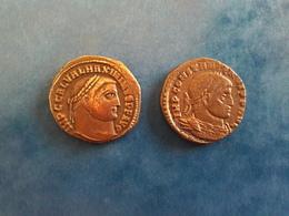 EMPIRE ROMAIN LOT DE 2 FOLLIS : CONSTANTIN 1er - MAXIMIN 1er - 6. La Tetrarchia E Costantino I Il Grande (284 / 307)