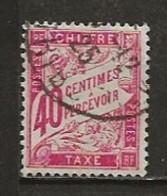 FRANCE:, Obl., TAXE N° YT 35, TB - 1859-1955 Usati
