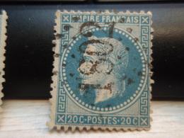 Timbre Empire Français 20 C. Napoléon III  Lauré. 29 B Oblitéré. 1802 - 1863-1870 Napoleon III With Laurels